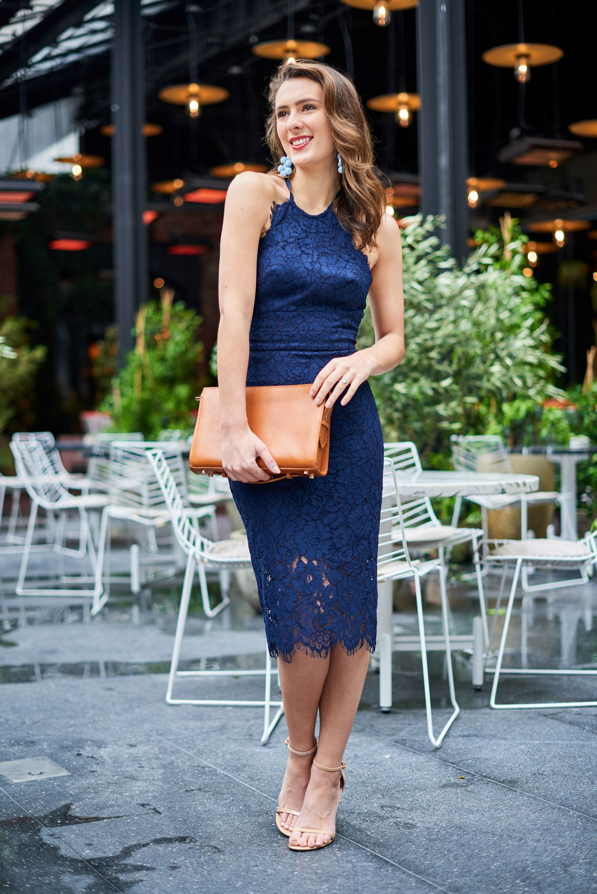 Navy Lace Open Back Dress 47dcb93ad