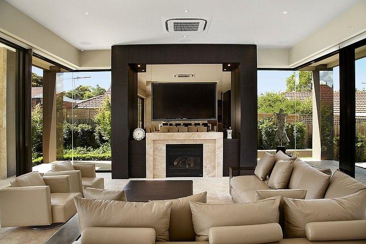 imagen decorar sala de estar com lareira | muebles para casa ...