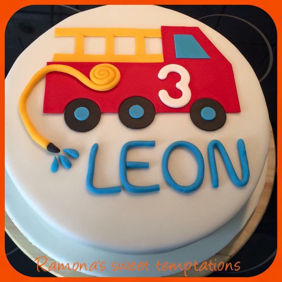 Fur Leon Den Kleinen Feuerwehrmann Hat Ramona Diese Schone Torte