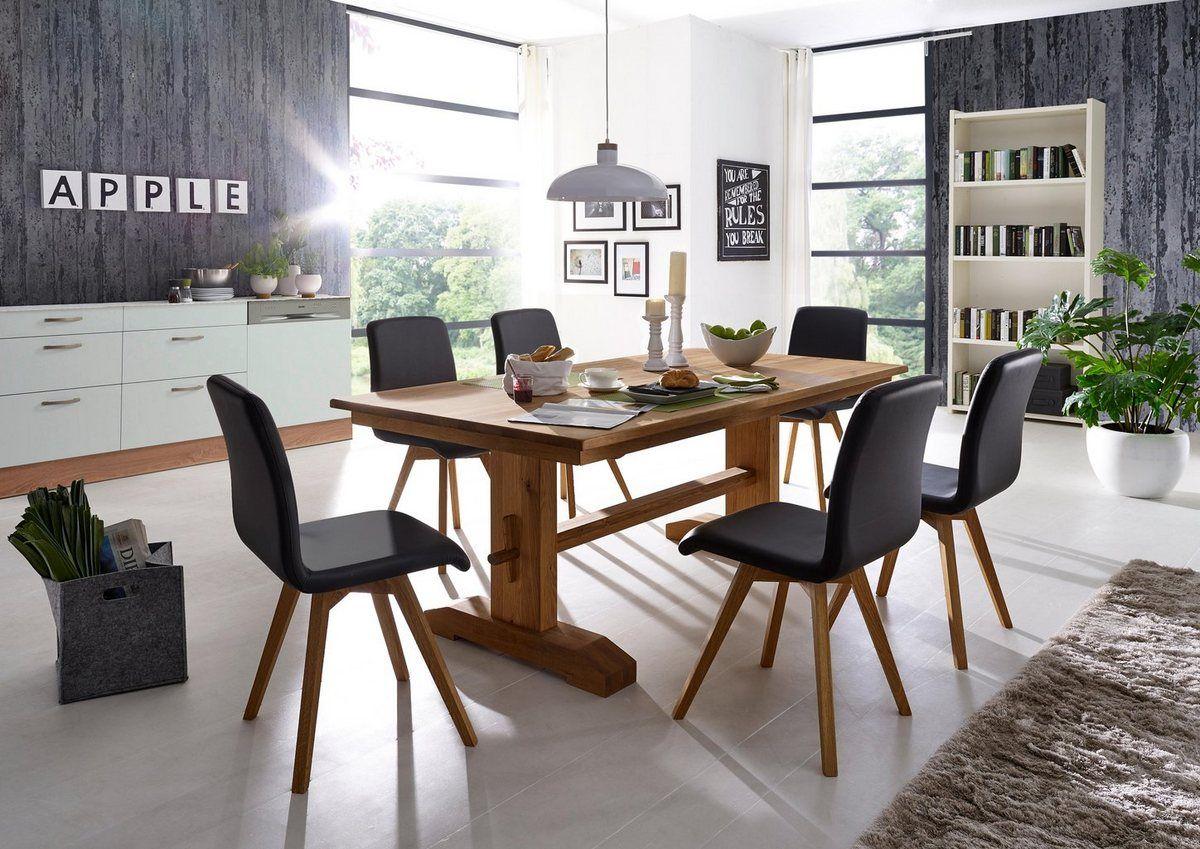 Essgruppe »Karla« Esstisch mit 6 stühlen, Stuhl holz und