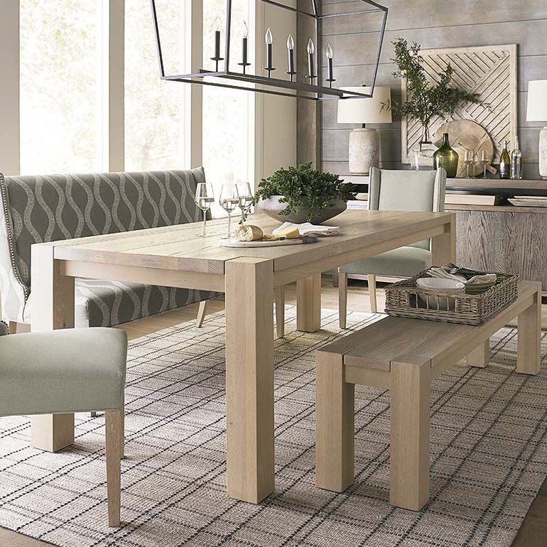 Bench Made Oak 90 Rectangular Dining Table Rectangular Dining