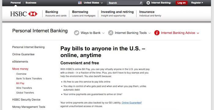 Hsbc Bill Pay Online Login Customer Service Sign In Paying