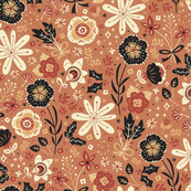 Festive Florals  fabric by annadeegan, click to view