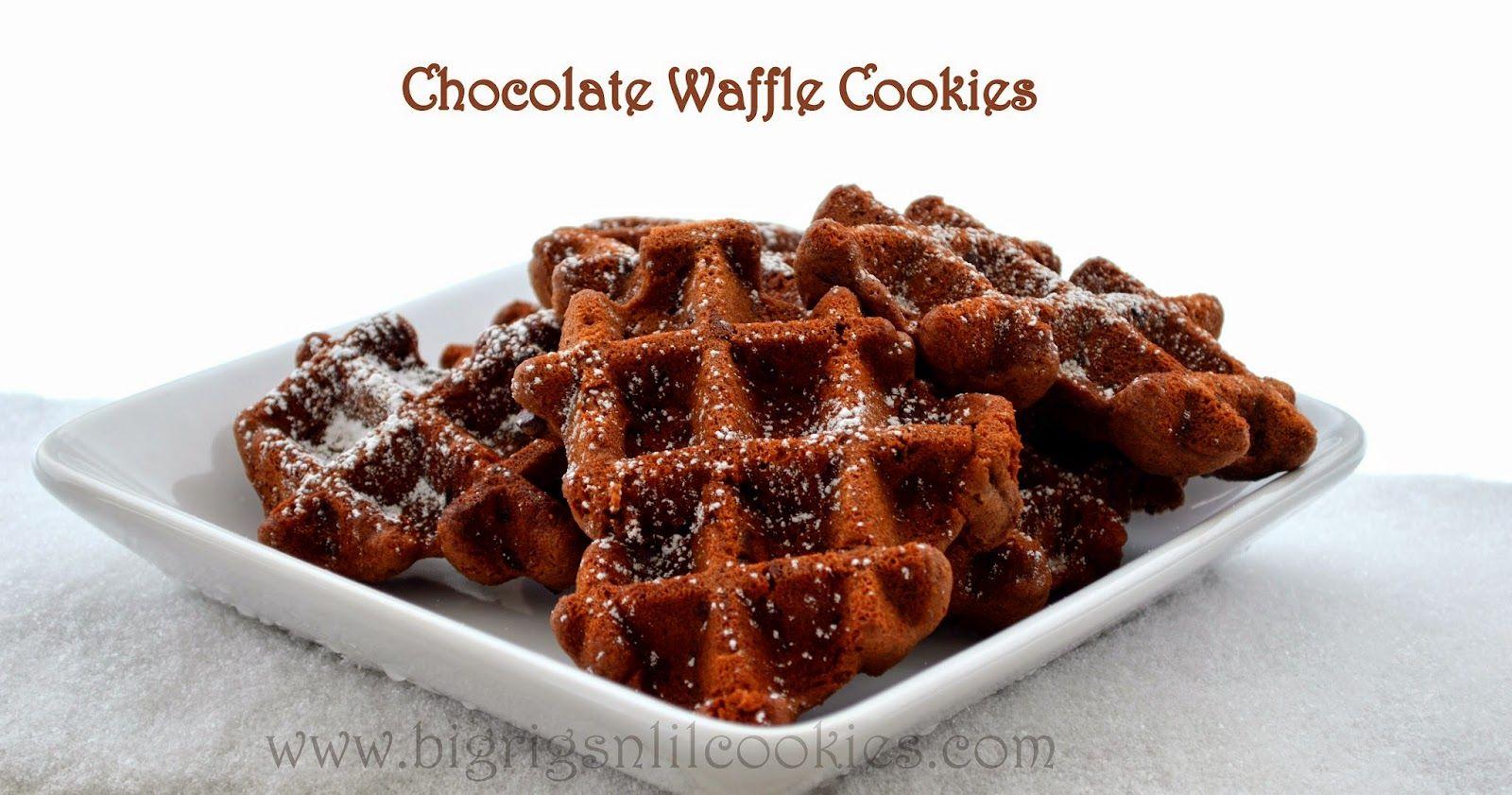 Big Rigs 'n Lil' Cookies: Chocolate Waffle Cookies