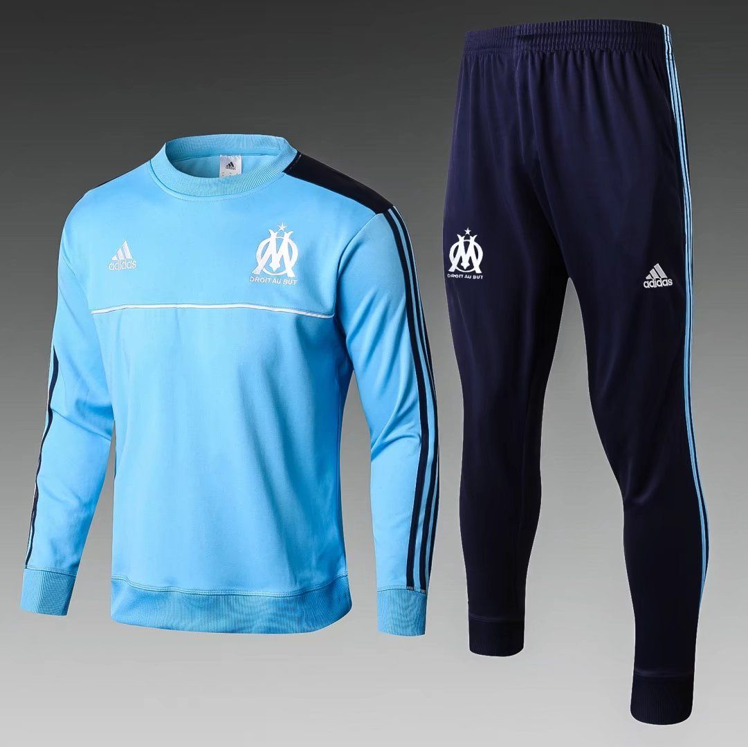 Marseille 2017 18 Light Blue Men Tracksuit Slim Fit in 2018 ... 51f19f7c8