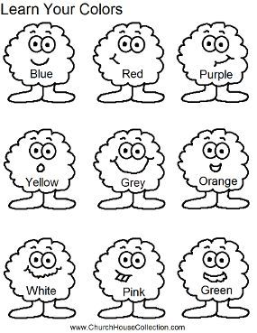learn your colors worksheet for kids free printable for preschool or headstart kids