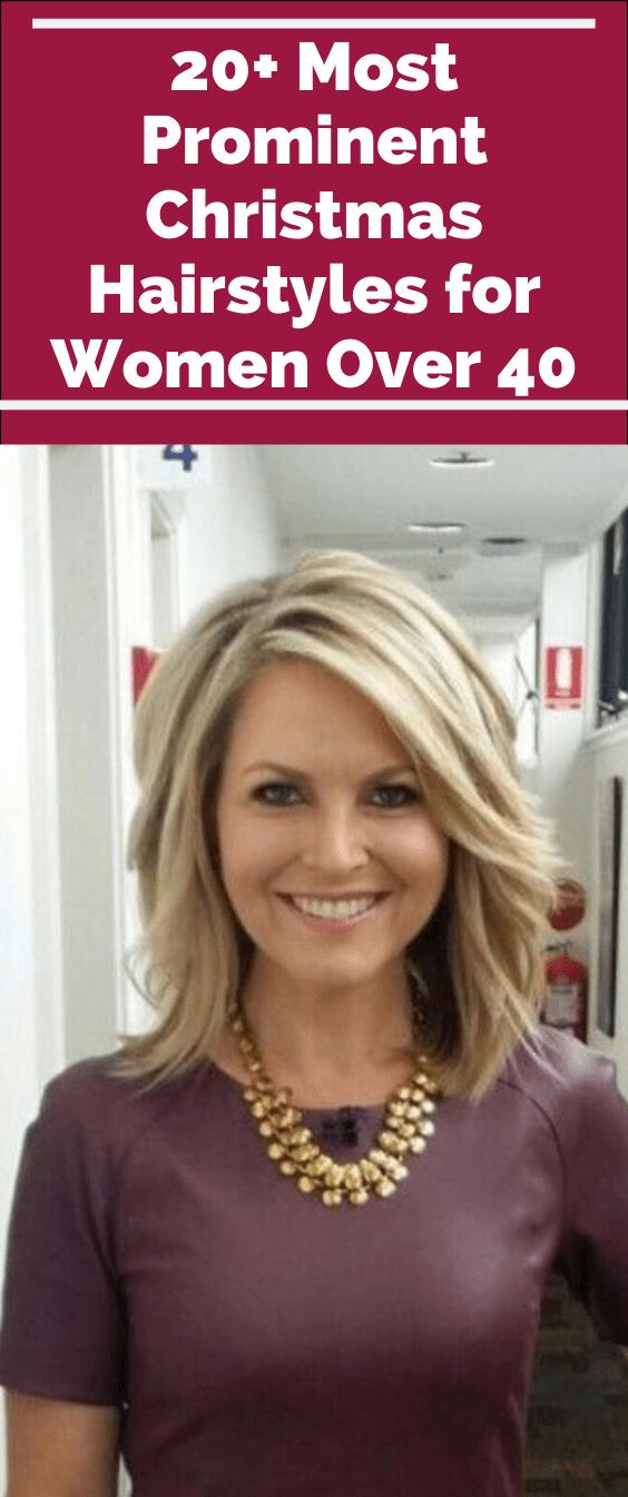 Over 40 Womens Christmas Hairstyle 2020 20+ Prominenteste Weihnachtsfrisuren für Frauen über 40