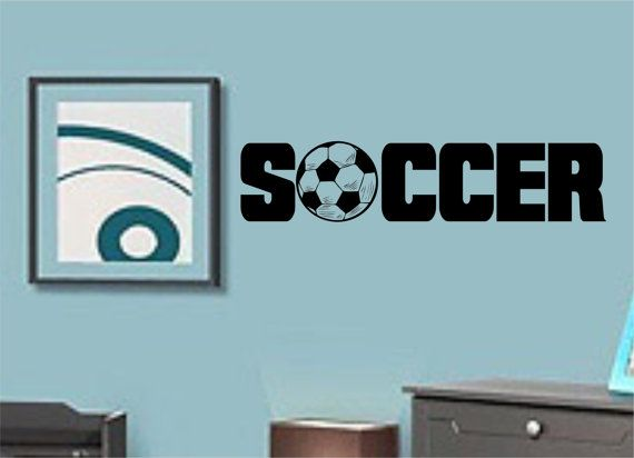 WORLD CUP SPECIAL Soccer With Ball Vinyl Wall Decal Sticker Art - Custom vinyl decal application instructionsapplication etsy
