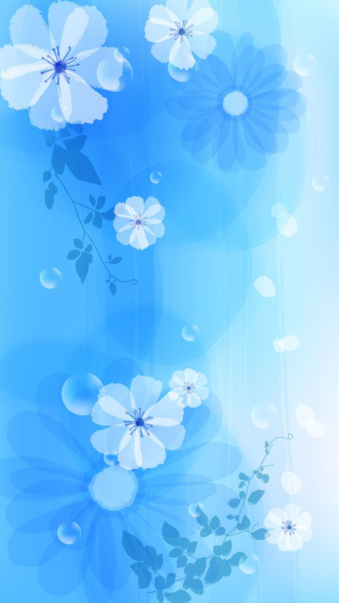 Girly Blue Iphone Wallpaper Iphone Wallpaper Blue Flower