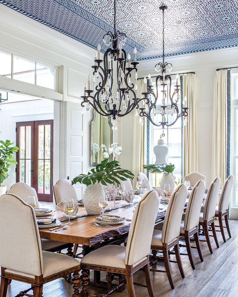 July August 2019 Southern Home Magazine House And Home Magazine Moroccan Dining Room Transitional Dining Room