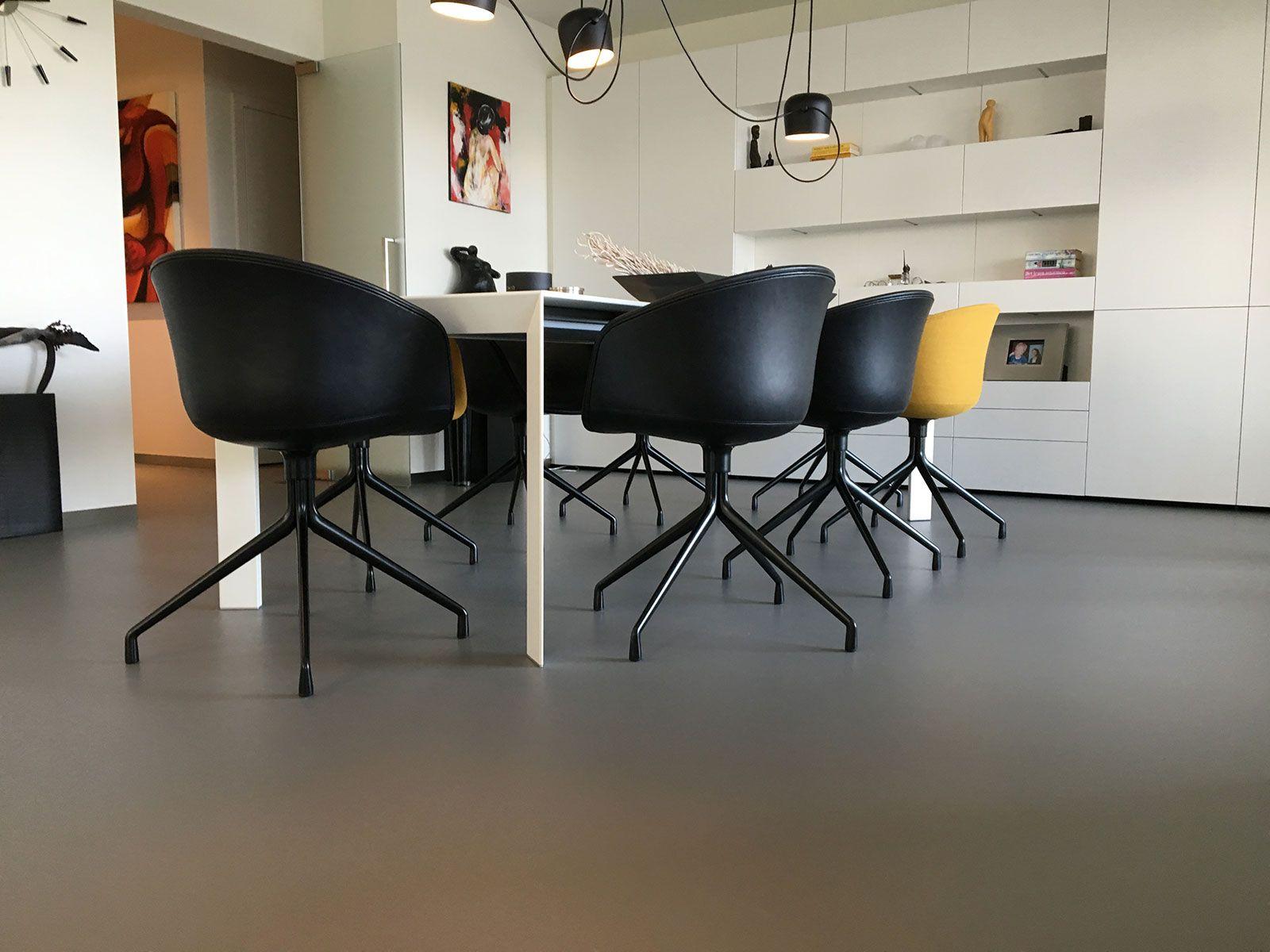 gietvloer lommel appartement eetkamer van hollandse bodem