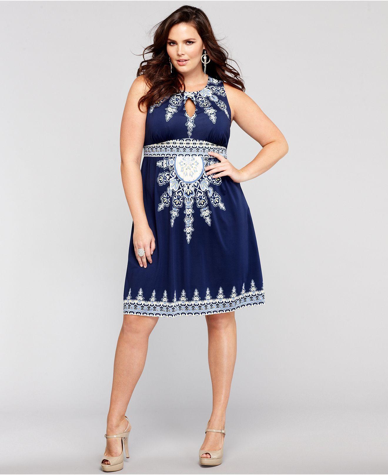 INC International Concepts Plus Size Dress, Sleeveless ...