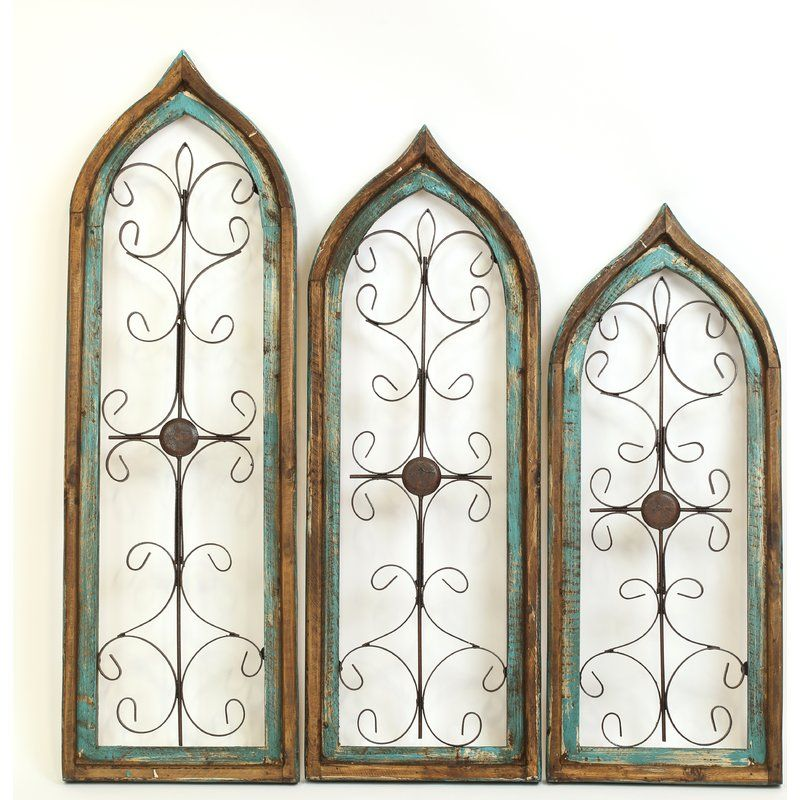 3 Piece Marie Architectural Window Wall Decor Set Window Wall