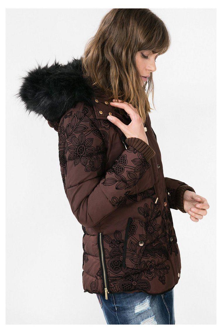 Manteau marron à capuche Ada Desigual Manteau Femme Desigual, Marrons,  Vetement Desigual, Vêtements ba2ac4e6748
