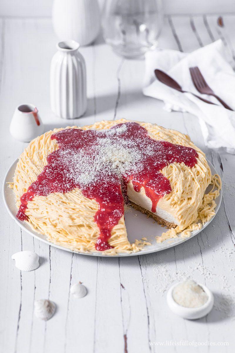 Spaghettieis Torte Zwei Varianten Als Torte Und Als Eistorte Life Is Full Of Goodies Rezept In 2020 Eistorte Lebensmittel Essen Dessert Rezepte