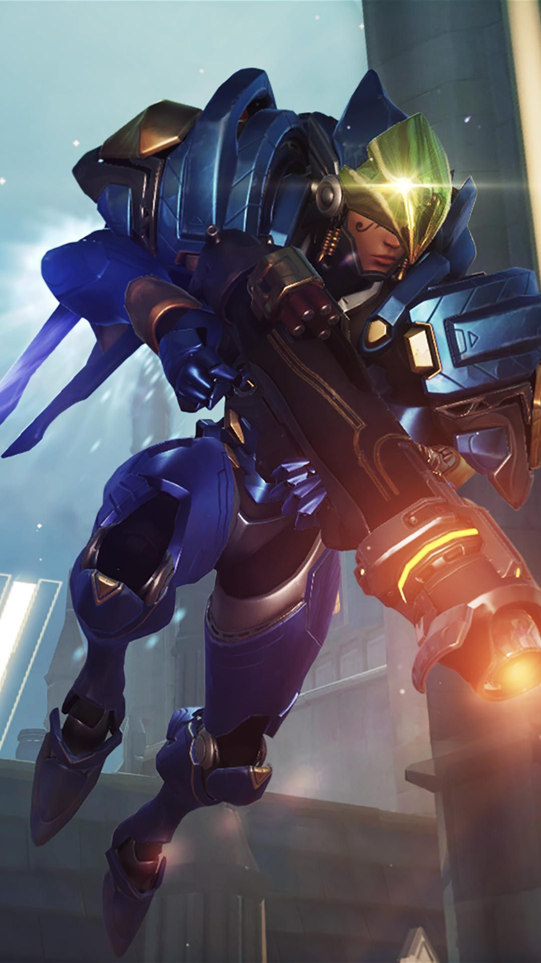 Pharah Rocket Launcher android, iphone wallpaper, mobile