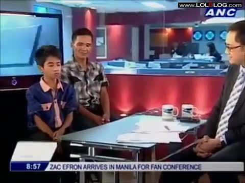 Young Filipino Boy Sings On Tv