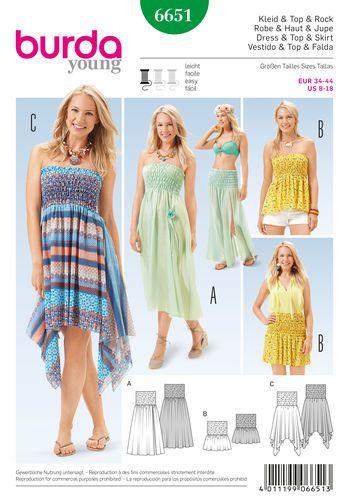 1811016aeaca Burda Style Pattern 6651 Misses  Dress
