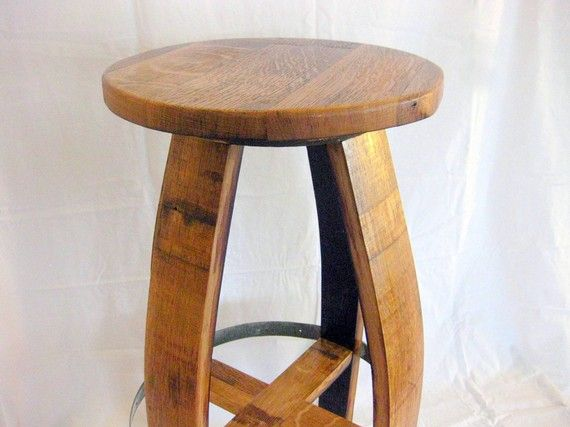 Very cool--wish I had a place to put some of these.  Wine Barrel Barstools by TheValleyBarrel on Etsy, $175.00