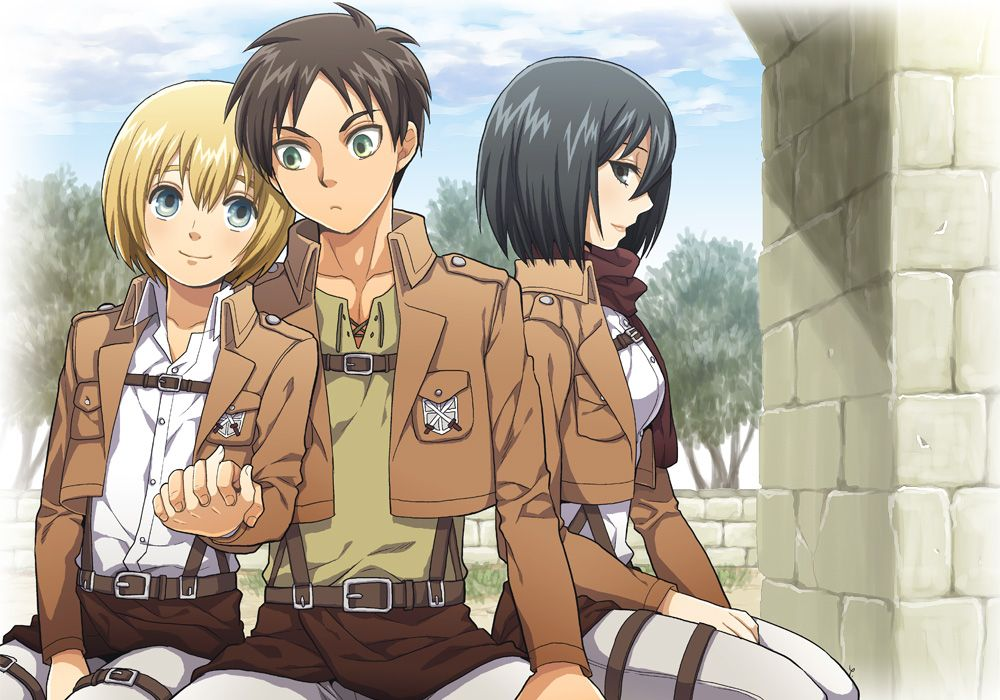 Mikasa is giving a very approving look, so it looks like she wants the relationship to kick off. Eremin