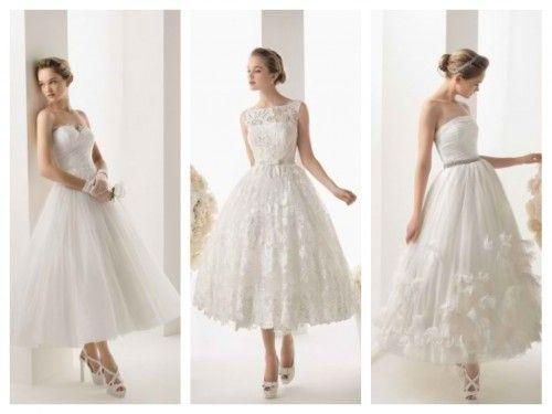 Vestidos de novia cortos para boda civil o segundas nupcias- Foto ...