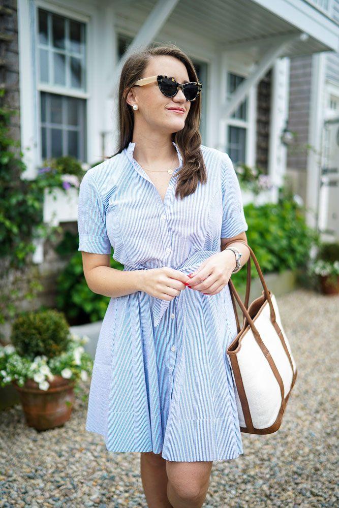 Alicia Bell Seersucker Shirtdress Trendy Summer Outfits Shirt