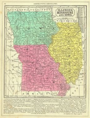 Illinois, Missouri and Iowa. Thomas, Cowperthwait & Co., Mitchell