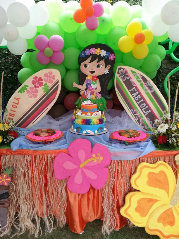 Fiesta hawaiana decorando fiestas pinterest moana luau and fiestas - Fiesta hawaiana ideas decoracion ...