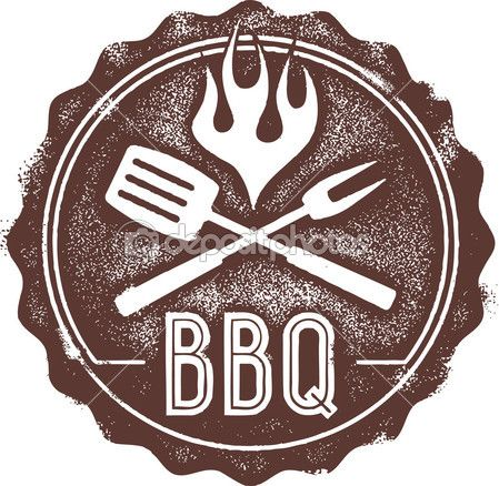 Vintage Barbecue Bbq Stempel — Stockillustration #22767990