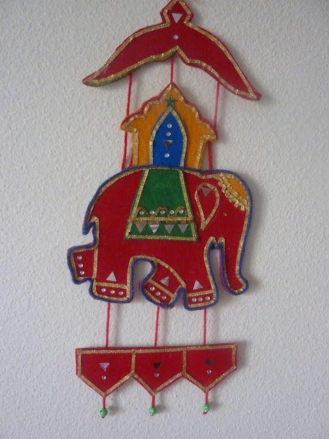 Felt Wall Hanging Indian Elephant Creativity Elephant Crafts