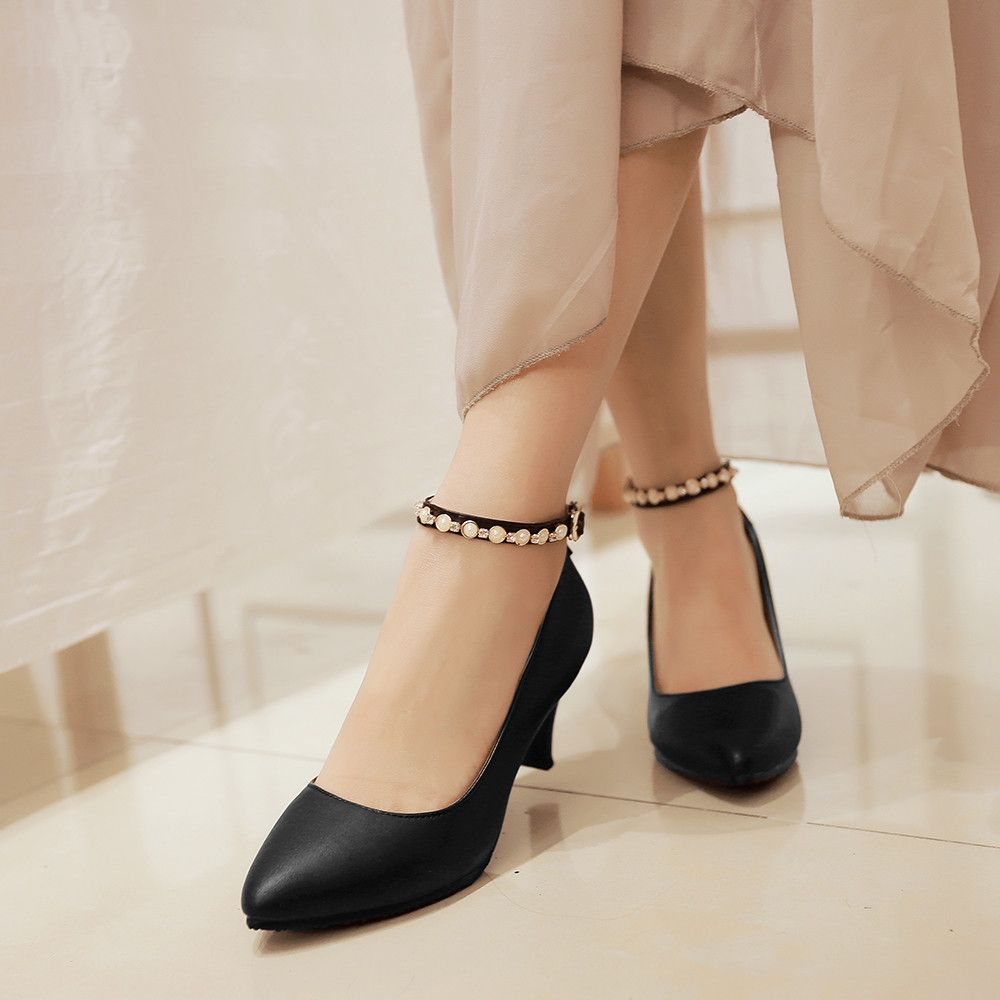0f4557a630e Heels: approx 7 cm Platform: approx - cm Color: Black, White, Pink Size: US  3, 4, 5, 6, 7, 8, 9, 10, 11, 12 (All Measurement In Cm And Please Note ...