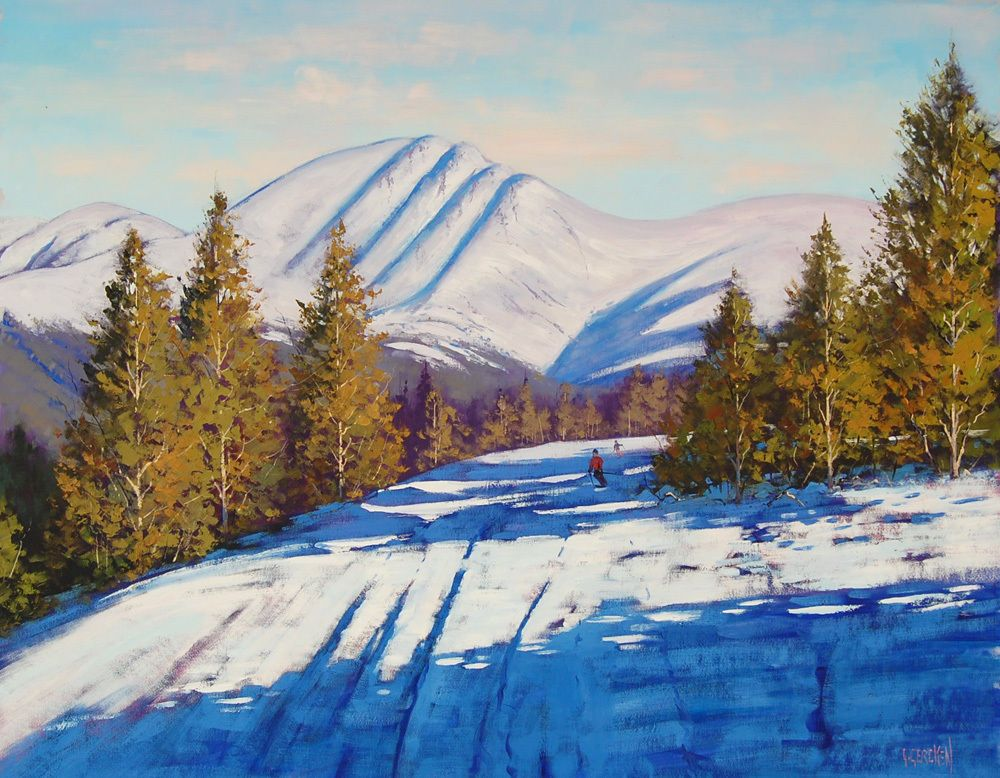 Details About Beautiful Oil Painting On Canvas Winter Landscape Mountains Signed And Framed Beautiful Oil Paintings Mountain Paintings Painting