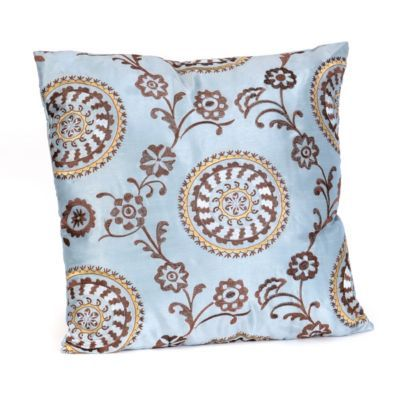 Suzani Powder Blue Floral Pillow.    #kirklands #pinitpretty