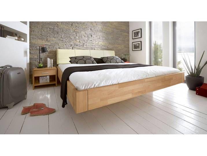 Doppelbett aus Holz Chessa 140x220 cm Buche natur