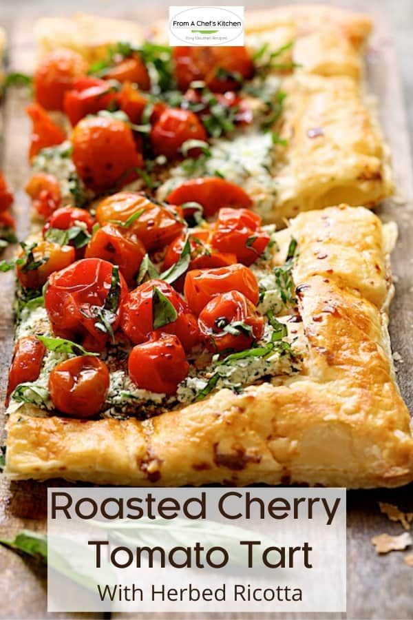 Photo of Roasted Cherry Tomato Tart with Herbed Ricotta