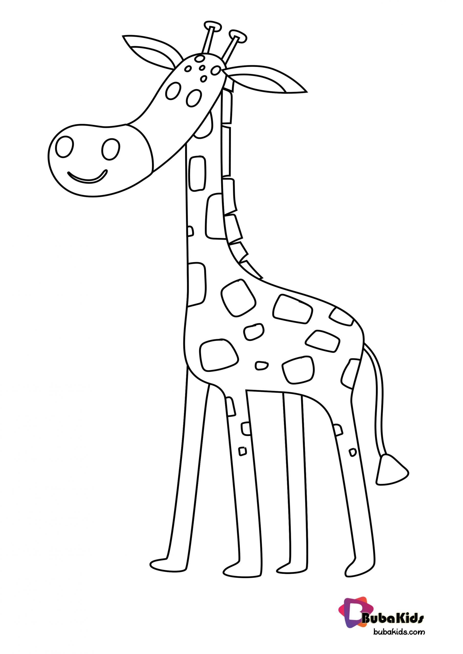 Cute Giraffe For Preschool Kids Coloring Page Collection Of Animal Coloring Pages For Teenage Printable T Kid Coloring Page Animal Coloring Pages Cute Giraffe