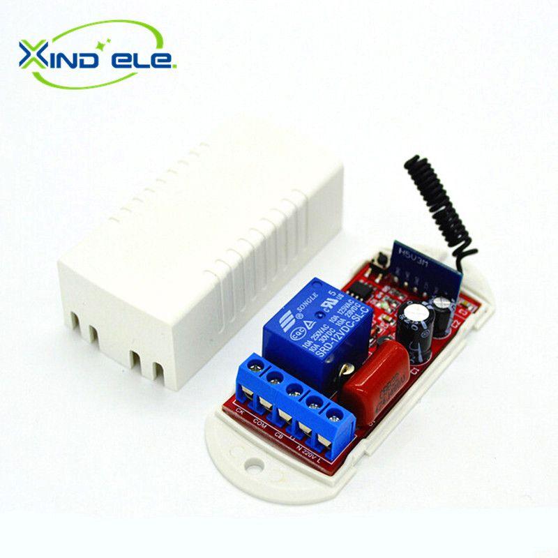1CH AC 110V 220V 10A 433 Mhz Wireless Remote Control Switch 433Mhz ...