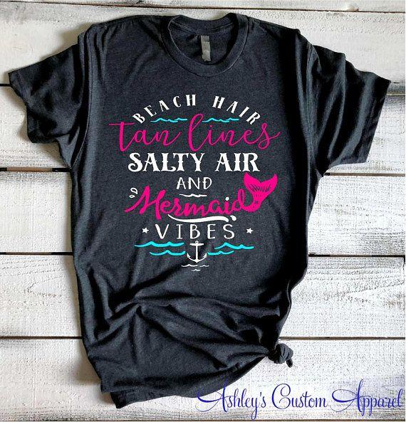 Cute Beach Shirts For Women Beach Hair Tan Lines Salty Air