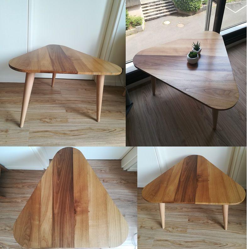 Table Basse En Chataignier Et En Hetre Meuble Mobilier Table Basse