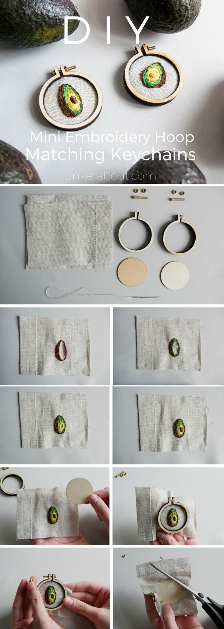 DIY Gift Idea for your Best Friend: Mini Embroidery Hoop Keychains #cheapgiftideas