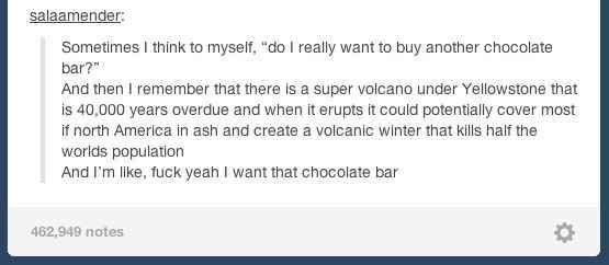 "Flawless chocolate logic: | 43 Tumblr Comments That Make You Go ""Hmmmm"""