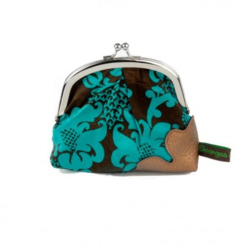 """Portemonnee 'Blauwe bloem' 