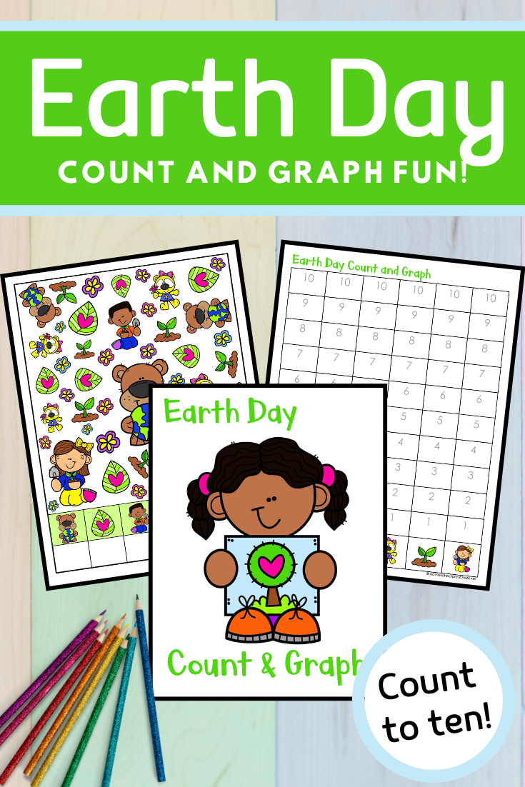 Earth Day Count And Graph Graphing Preschool Activities Earth Day [ 1102 x 735 Pixel ]