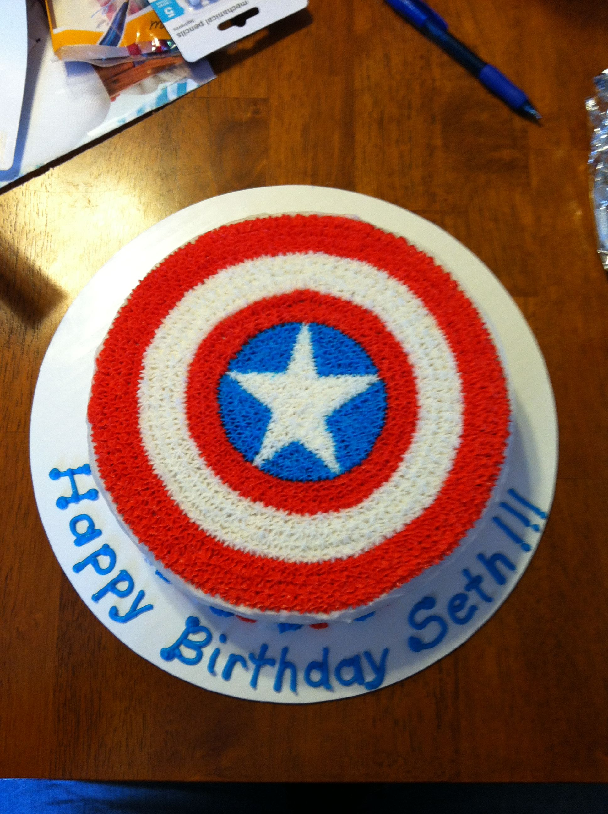Super hero (Captain America) cake
