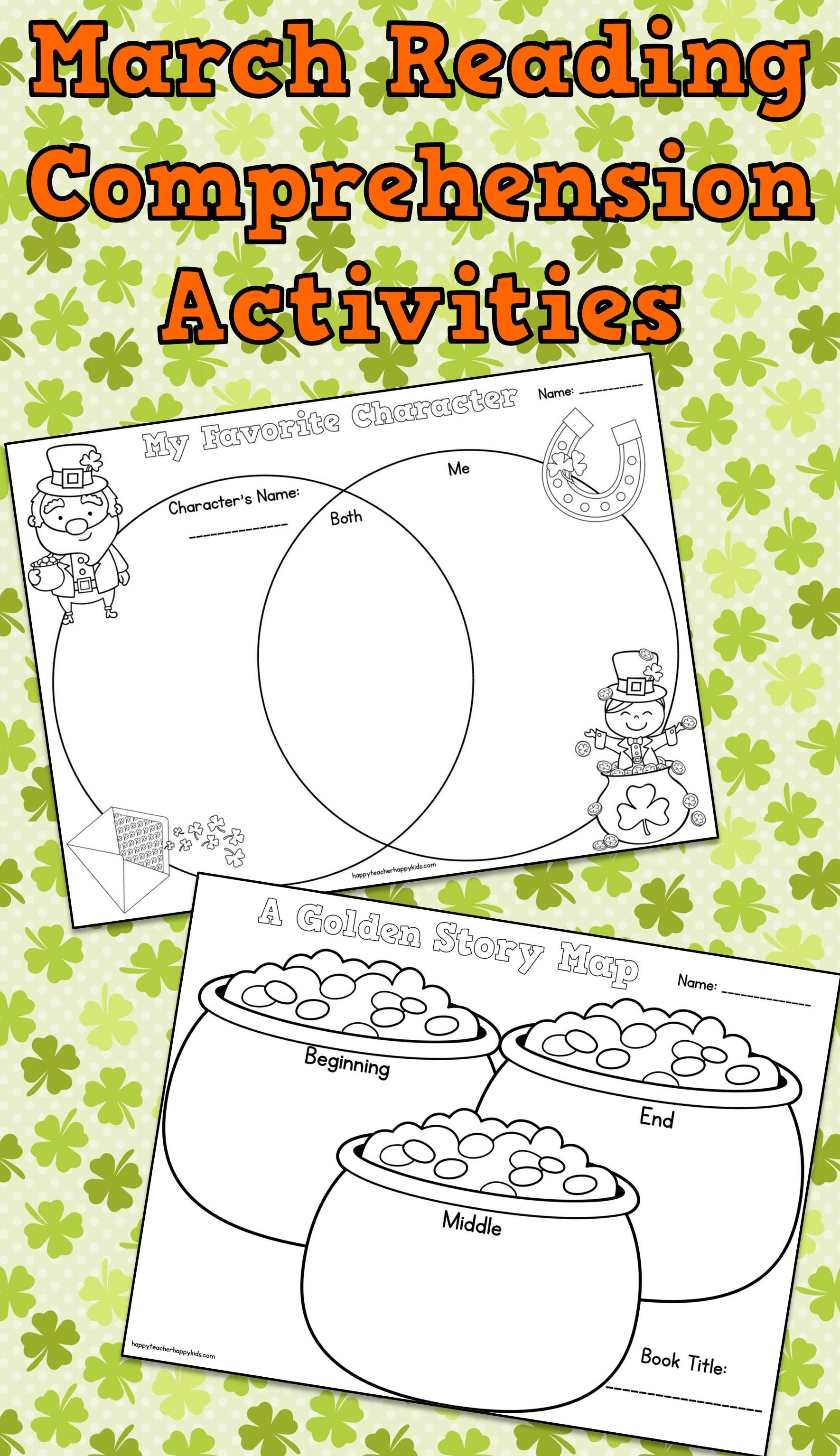 March Reading Comprehension St Patrick S Day Fun