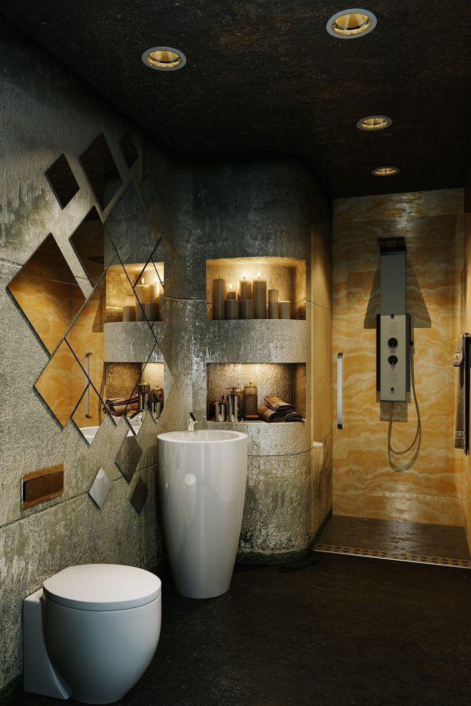 Inspiration Für Das Badezimmer, Das Ideen Mit Einem Attraktiven Design  Verziert, Das Einen ästhetischen Wert In Ihm Zeigt