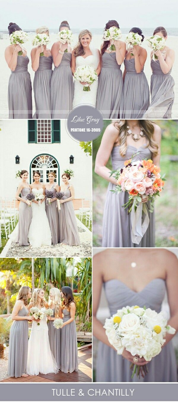 Wedding Dresses Lilac Gray Colors Ideas 2016 And Spring Bridesmaid Unique Dress
