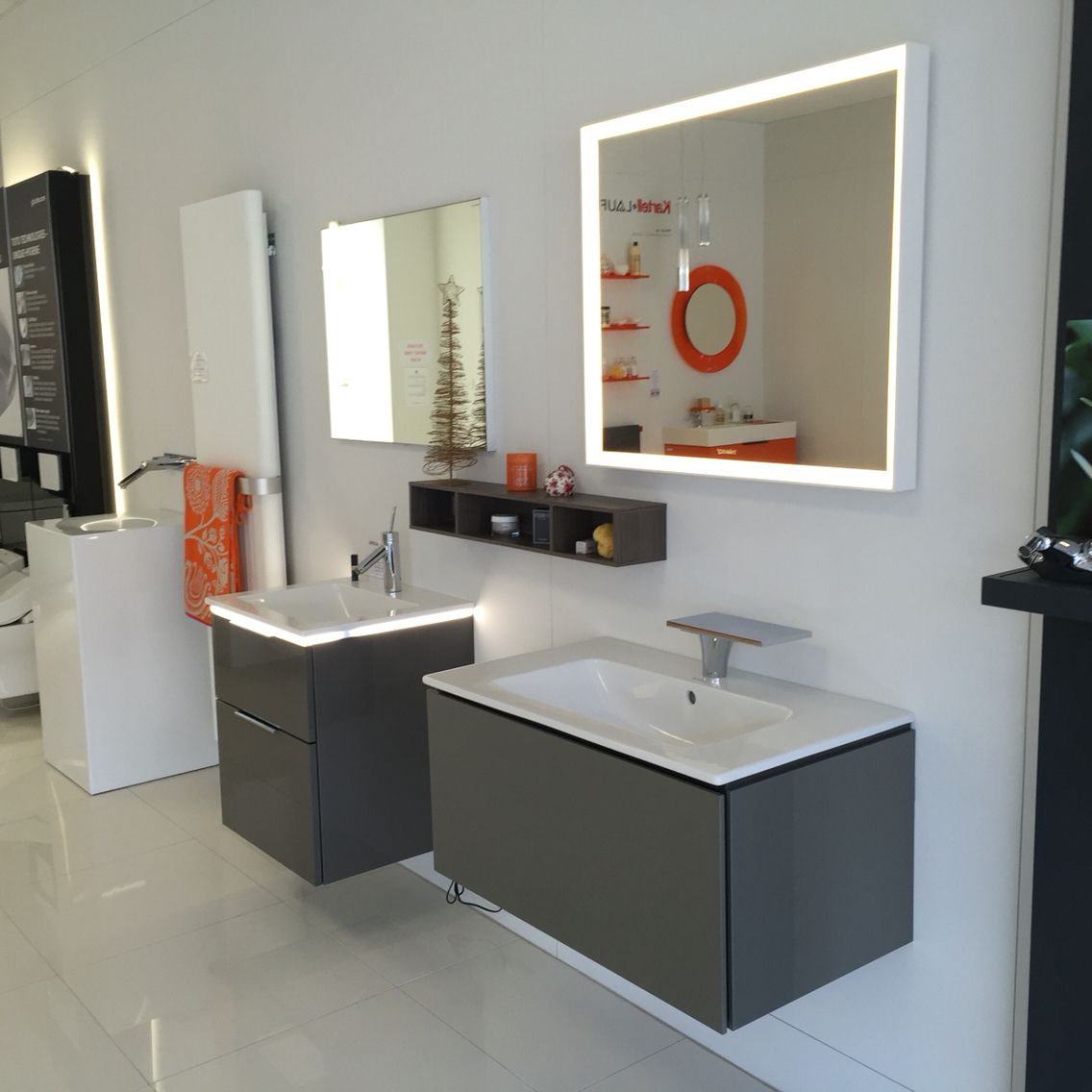 #Duravit L Cube Vanity Unit #Burgbad 2 Drawer Vanity Unit With #led  Lighting And Matching #mirror #Handgrohe #mixer