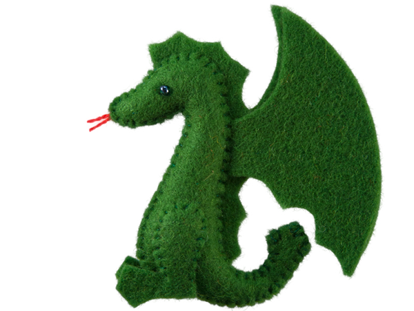 Mini Felt Friends Dragon Standing #feltdragon