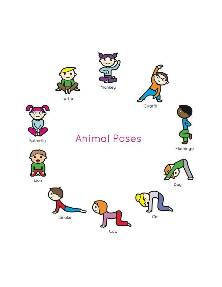 Yoga Poses For Kids Posturas De Yoga Para Ninos Ninos Del Yoga Chico Yoga